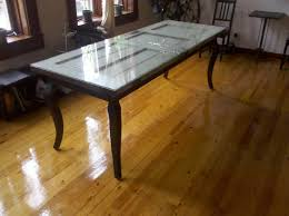 barn door dining table green table using reclaimed door and cabriole dining table legs with