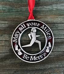 runner u0027s christmas ornament christmas decorations for