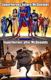 Meme Superhero - superheroes mcdonalds meme comic other memes pinterest