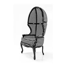 houndstooth balloon chair chairs houzz eclectic