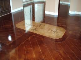 stained concrete floors that look like wood all home design