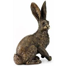 garden statuary bronze hare statues ornaments hares polyvore