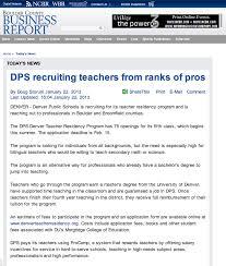denver teacher residency philosophy communication