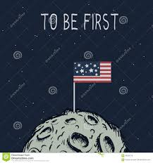 American Flag On The Moon American Flag Standing On The Moon Stock Vector Image 83254218