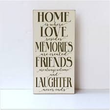 home decor wood sign home is where love resides memories