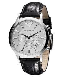 watches chronograph emporio armani s chronograph black leather ar2432