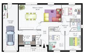 plan de maison plain pied gratuit 3 chambres plan maison 90m2 plainpied 3 chambres trendy plan de maison plain