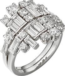 cartier diamond ring crh4315200 reflection de cartier ring white gold diamonds