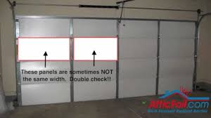 how to paint a metal garage door garage door insulation diy radiant barrier youtube