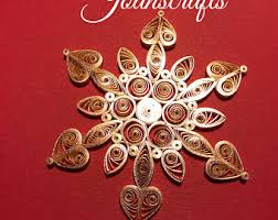 sparkling quilled snowflake ornament