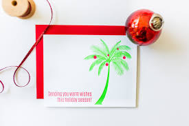 sending warm wishes palm tree letterpress card chez gagné