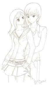 anime couples coloring pages download free printable coloring pages