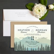 vintage mountain wedding invitations