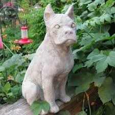boxer dog statue triyae com u003d cement backyard dog various design inspiration for