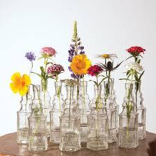 Small Glass Vases Wholesale Amazon Com Luna Bazaar Small Vintage Glass Bottle Set 6 5 Inch