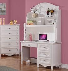 White Children Desk by Homelegance Hayley 4 Drawer Kids U0027 Desk W Hutch In White Beyond