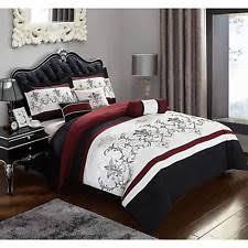 Red And Grey Comforter Sets Heritage Bay 7 Piece Simon Jacquard Bedding Pillow Comforter Set