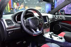 jeep grand interior jeep grand cherokee srt red vapor interior at the 2014 paris motor