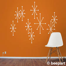 backsplash wall decals atomic starbursts vinyl wall decals mid century modern retro