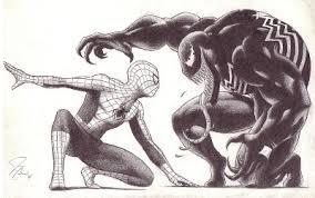 spiderman venom illustration artworks fan arts