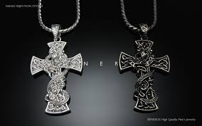 cross pendant chain necklace images Snake celtic cross pendant chain necklace silver plated mens jpg