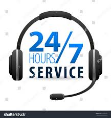 service call center customers available online stock vector