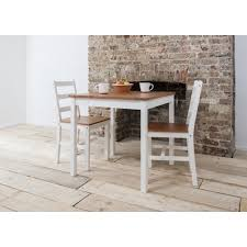 small white dining table annika dining table with 2 chairs in natural white noa nani