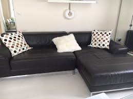 ikea black leather sofa ikea kramfors two piece leather sofa for sale in newport gumtree