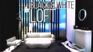 black u0026 white loft sims 4 house build youtube