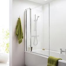 Shower Screens For Bath Square Bath Shower Screen Hinged Panel 1400mm None From Taps Uk