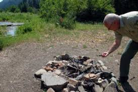 Old Fire Pit - free camping u0027s steep cost the spokesman review