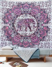 Pink Wall Decor by Elephant Mandala Tapestry U2013 Pink Purple Elephant Floral Mandala