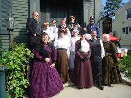 lizzie borden dramatization loretta sisco the cast on the porch of the lizzie borden bed and breakfast