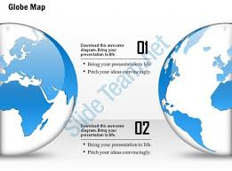 0914 business plan 3d globe half view with different locations
