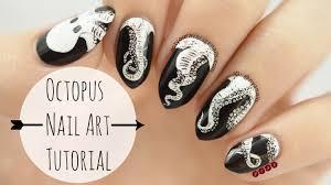 octopus nail art tutorial youtube