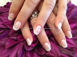 eye candy nails u0026 training white acrylic tips with pink pearl