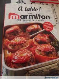 livre cuisine marmiton livre cuisine à table avec marmiton a vendre 2ememain be