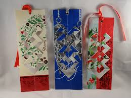 how to make a bookmark out of a recycled christmas card with