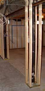 pole wrap 96 in x 12 in oak basement column cover basements