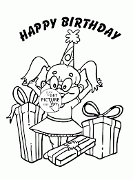 happy birthday coloring page for kids holiday coloring pages