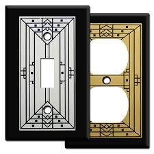 craftsman style light switches california craftsman light switch plates in black kyle design