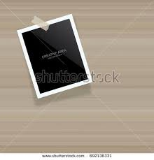 blank photo frame picture frame stick stock vector 691557790