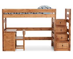 Bunk Bed With Stairs And Desk Durango Bunk Bed Furniture Row
