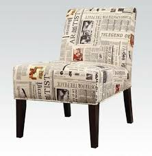 Upholstered Accent Chair Aberly Collection Newspaper