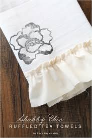 shabby chic ruffled tea towels love grows wild