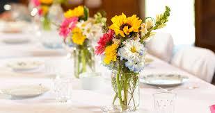 Mason Jar Floral Centerpieces One Charming Party Birthday Party Ideas U203a American Pioneer