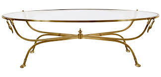 oval hollywood regency brass coffee table chairish