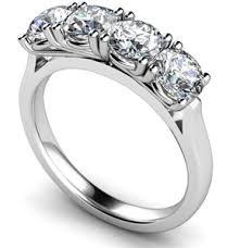 diamond stone rings images 4 stone diamond rings diamond heaven jpg