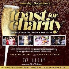 cocktail party toast for charity holiday cocktail party toy drive tickets