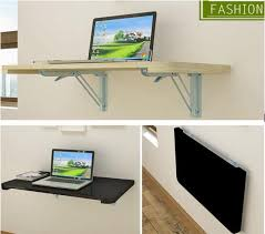 Computer Desk Wood 100 40cm Wall Hanging Laptop Table Wood Folding Notebook Table